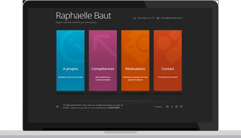 realisation raphaelle-baut.fr sur ordi portable