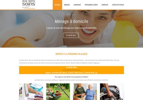 Création du site auxbonssoins.fr