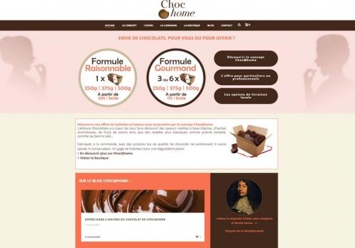 Création du site e-commerce chocathome.fr