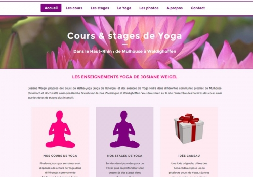 Conception du site lesjardinsduyoga.fr