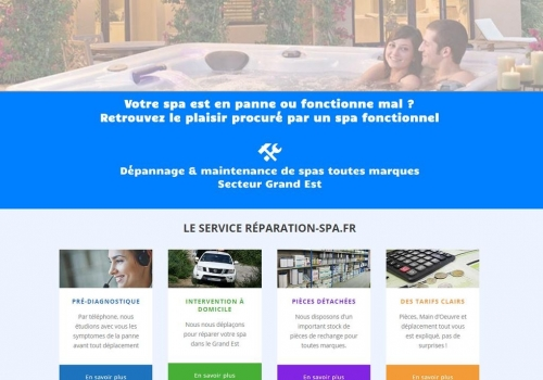 Conception du site Reparation-spa.fr